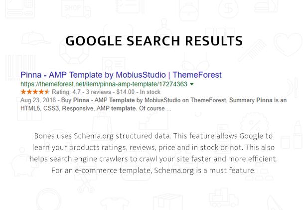 Bones Google AMP Search Result Example
