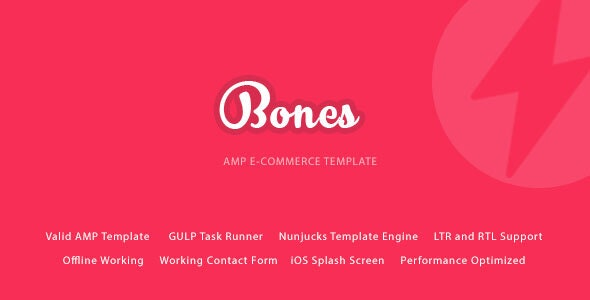 Bones Google AMP E-Commerce Mobile Template