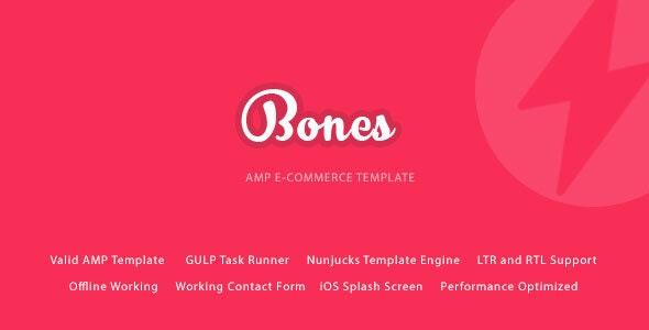 Bones Google AMP E-Commerce Mobile Template