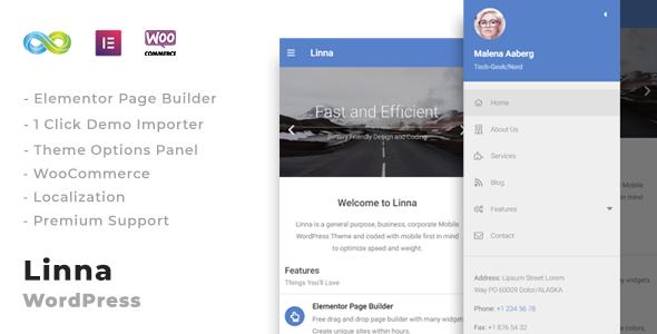 Linna Clean Mobile WordPress Theme
