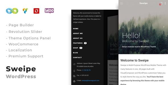 Sweipe - Responsive WordPress Mobile Theme